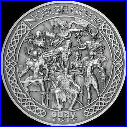 NORSE GODS 5 oz 999 Silver Coin from Cook Islands 2016