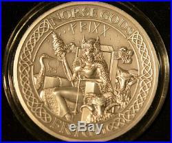 Norse Gods Frigg, 2 oz Silver Coin, Cook Islands 2016