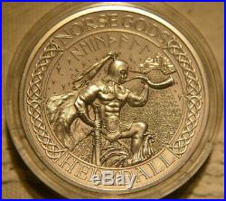 Norse Gods, Heimdall, 2 oz Silver Coin, Cook Islands 2016