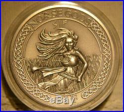 Norse Gods Sif, 2 oz Silver Coin, Cook Islands 2015