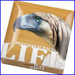 PHILIPPINE EAGLE MAGNIFICENT LIFE 2019 $5.00 1 oz Pure Silver Coin Cook Islands