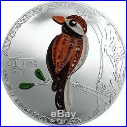 Quilling Art Bird 999 Silver Proof Coin PCGS PR69 Cook Islands 2017