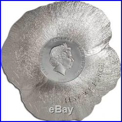 Remembrance Poppy 1oz Silver Coin 2017 Cook Islands