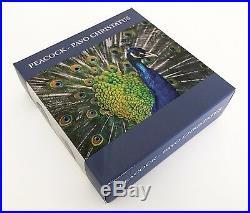 Royal Delft Peacock Pavo Christatus 50 g Silver Coin Cook Island 2017