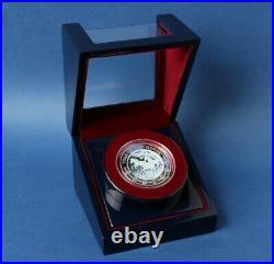 Rwanda 2014 1000 Fr Year of Horse 3oz 999 Silver Jewel Relief Coin agate cameo