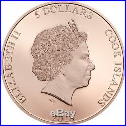 SALVATORE DALI MONEY HEIST MASK 20181 oz $5 Pure Silver Coin Cook Islands