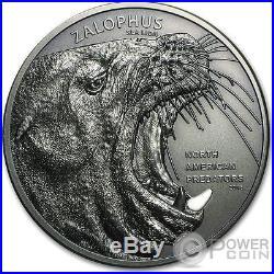 SEA LION ZALOPHUS North American Predators 2Oz Silver Coin 10$ Cook Islands 2016