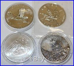 SILBER Unze Münze silver coin Canada Wildlife Bird Cook Islands Schiff 1 oz Set