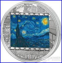 STARRY NIGHT Vincent Van Gogh 3 Oz Silver Coin 20$ Cook Islands 2015