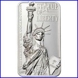 STATUE OF LIBERTY 2017 COOK ISLANDS 2oz Proof Silver Coin
