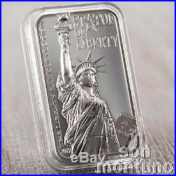 STATUE OF LIBERTY 2 oz Silver Bar Coin 2017 Cook Islands FIRST OF NEW SERIES
