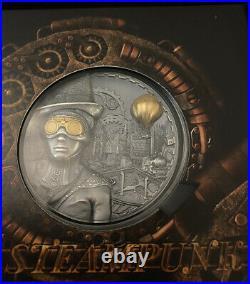 STEAMPUNK 3 Oz Silber Münze 20$ Cook Islands 2020 Limitiert auf 555 Exemplare