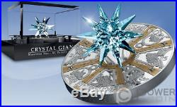 ST PETERS BASILICA Star Crystal Giant 1 Kilo Silver Coin 100$ Cook Islands 2017
