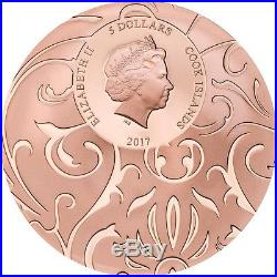 Scarab Selection $5 1oz 3 Pure Silver Coin Proof Set Cook Islands 2017