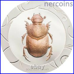 Scarab Selection II 2017 Cook Islands Set of 3 x $5 Silver 1Oz Coins Perfect