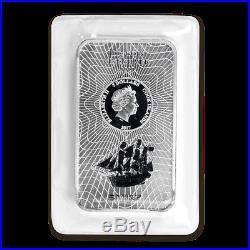 Silver Coin Bar Cook Islands Bounty 2017 100 gram 99.99% pure silver
