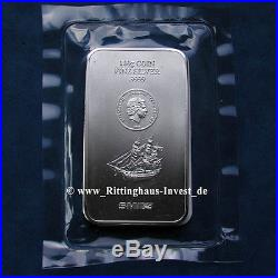 Silver bullion Silver coins bullion 100g 0.22 lbs Cook Islands 2015 5$ SMI