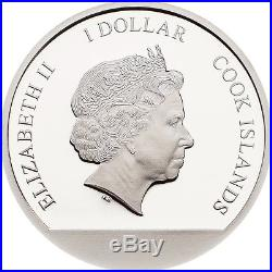 Snow Globe Indian Summer $1 Silver Coin Cook Islands 2018