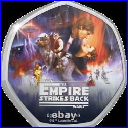 Star Wars 40th Anniversary The Empire Strikes Back Silver Coin Cook Islands 202