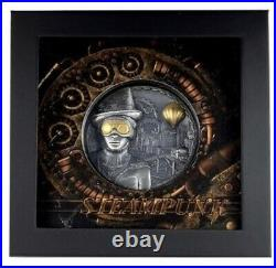 Steampunk 2020 $20 3 Oz Silver Antique Finish Cook Islands Coin Invest Trust
