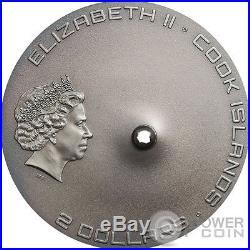 TAMDAKHT METEORITE STRIKE Meteor Silver Coin 2$ Cook Islands 2016