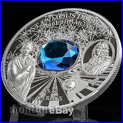 THE HOPE DIAMOND Famous Diamonds 2oz Silver Proof Coin 2016 Cook Islands $10