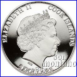 THE KIWI Flightless Birds 1oz Silver Coin 2014 Cook Islands COLORED BIRD VERSION