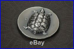 TORTOISE Turtle Ultra High Relief 1 oz Silver Coin Cook Islands 2020