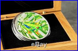 TREE FROG Magnificent Life 1 oz High Relief Silver Proof Coin Cook Islands 2018