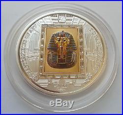 TUTANKHAMUN 1/4oz Gold 3oz Silver Coin $20 Masterpieces of Art Cook Islands 2011
