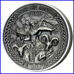 Thor 2 Oz Silver Coin, Cook Islands Mayer Mint Norse Gods series, 2015