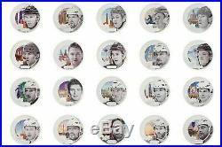 Upper Deck Grandeur NHL SILVER COINS Full COMPLETE SET 20 MRSP 1K+ Mcdavid