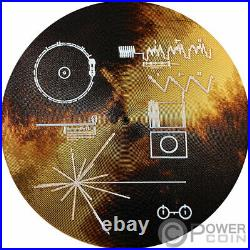 VOYAGER GOLDEN RECORD The Sounds of Earth Silver Coin 2$ Cook Islands 2020
