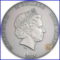 ZHONG KUI Asian mythology series Cook Islands 3 Oz Silver Coin PRESALE
